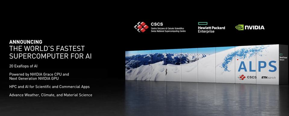 The Swiss National Supercomputing Center will deploy the Grace-enabled 20 Exaflop AI in 2023.